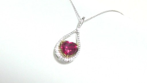Diamond Pendant In Sterling Silver Heart Shaped Lab