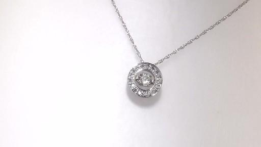 Diamond Circle Pendant In 10k White Gold Diamonds In