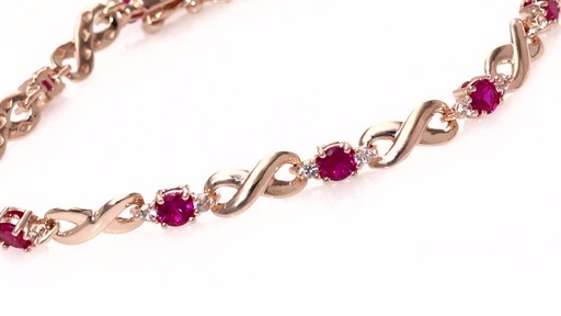 ZALES LabCreated Ruby and White Sapphire Infinity Link Bracelet in