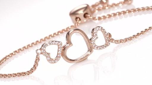 ZALES LabCreated White Sapphire Triple Heart Bolo Bracelet in