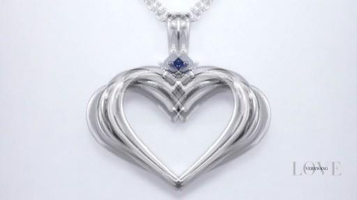 Zales Vera Wang Love Collection Blue Sapphire Open Heart