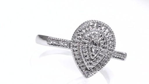 Zales Diamond Accent Beaded Teardrop Ring in Sterling Silver Dtv8gw