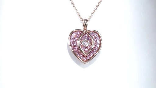 Zales Unstoppable Love Lab-Created White Sapphire Double Heart Pendant in Sterling Silver with 14K Rose Gold Plate hc2aqQ