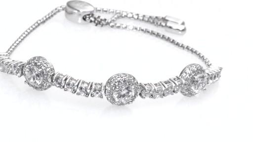 ZALES Lab-Created White Sapphire Frame Three Stone Bolo Bracelet in ...