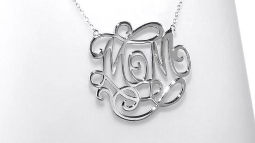 Script Monogram Quot Mom Quot Necklace In Sterling Silver Pendants