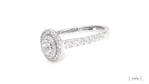 Oval Diamond Double Frame Engagement Ring in 14K White Gold ZALES ...