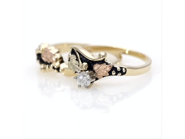 Black Hills Gold 1/6 CT. Diamond Solitaire Bridal Set - image 4 from the video
