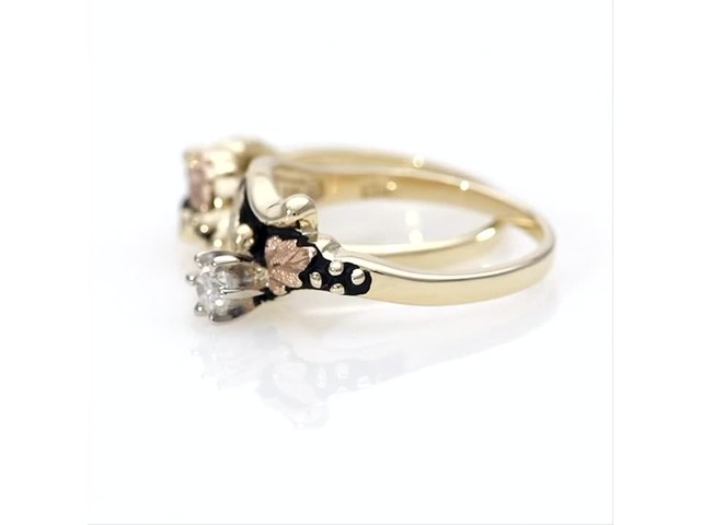 Black Hills Gold 1/6 CT. Diamond Solitaire Bridal Set - image 5 from the video