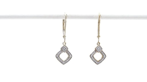 Diamond Accent Angled Square Drop Earrings in 10K Gold - image 1 from the video
