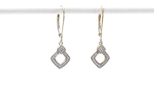 Diamond Accent Angled Square Drop Earrings in 10K Gold - image 10 from the video