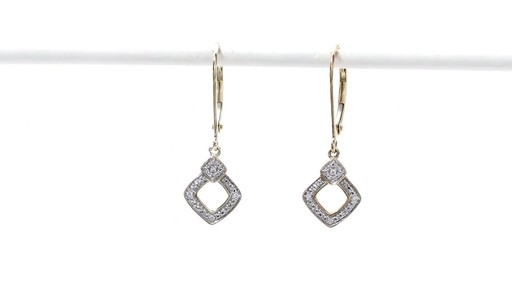 Diamond Accent Angled Square Drop Earrings in 10K Gold - image 2 from the video