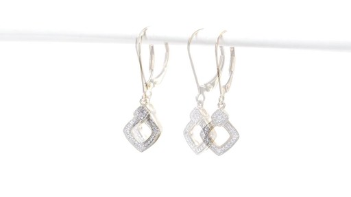 Diamond Accent Angled Square Drop Earrings in 10K Gold - image 3 from the video