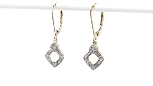 Diamond Accent Angled Square Drop Earrings in 10K Gold - image 5 from the video