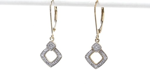 Diamond Accent Angled Square Drop Earrings in 10K Gold - image 6 from the video
