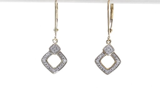 Diamond Accent Angled Square Drop Earrings in 10K Gold - image 7 from the video