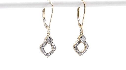 Diamond Accent Angled Square Drop Earrings in 10K Gold - image 9 from the video