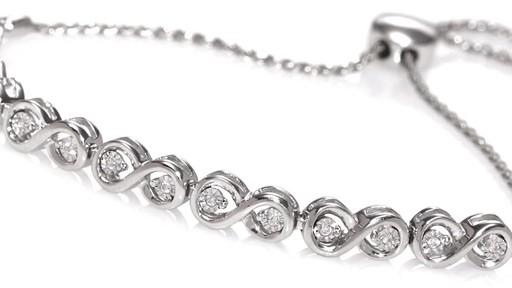 Zales Diamond Accent Infinity Link Bracelet in Sterling Silver afdNcJAKs