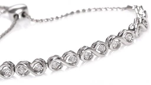 Zales Diamond Accent Infinity Link Bolo Bracelet In