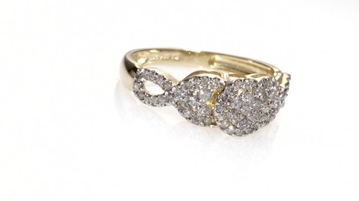 Composite Diamond Frame Twist Engagement Ring In 10k Gold