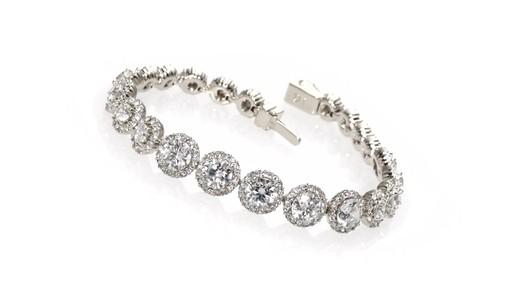 Ava Nadri Cubic Zirconia And Crystal Frame Line Bracelet