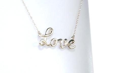 Zales love Script Necklace in 10K White Gold CnCumwIxI