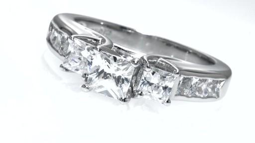 princess cut past present future engagement ring
