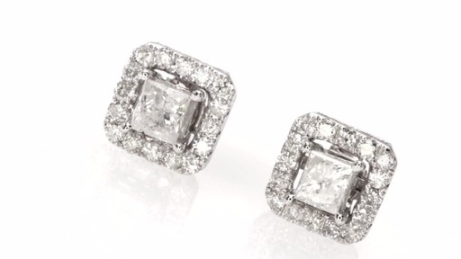 Certified Princess Cut Diamond Stud Earrings With Earring Jackets In Image 4 From The