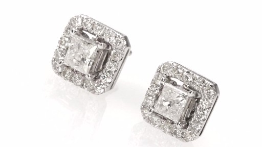 Certified Princess Cut Diamond Stud Earrings With Earring