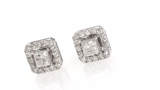Certified Princess Cut Diamond Stud Earrings With Earring Jackets In Image 8 From The
