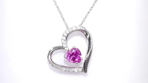 Zales 5.0mm Heart-Shaped Lab-Created Ruby and White Sapphire Infinity Motherly Love Pendant in Sterling Silver VAdipTtUF