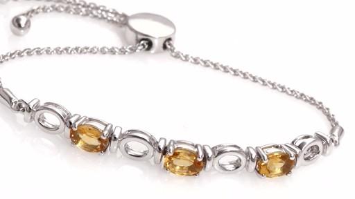 Zales Oval Citrine Three Stone Bolo Bracelet in Sterling Silver - 9.5 f35fyAnuD