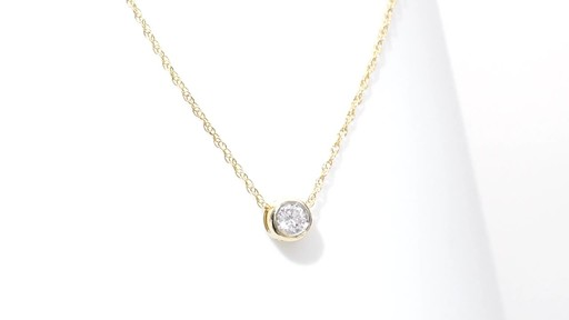 diamond solitaire pendant in 10k gold 1 4 ct shop zales