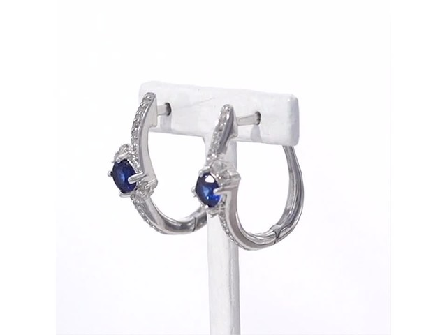 4 0mm Lab Created Blue And White Sapphire Side Accent
