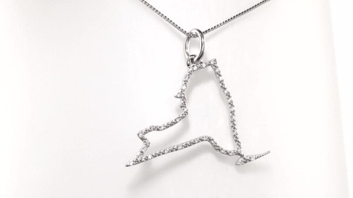 Diamond Accent State Of New York Outline Pendant In