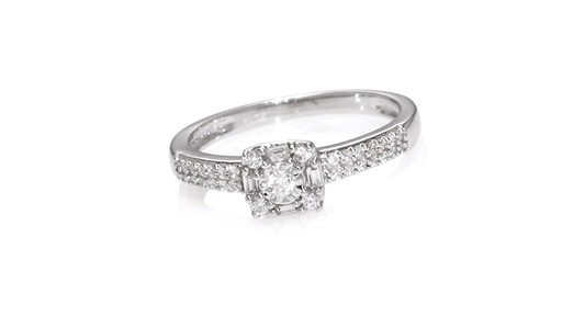 Diamond Double Row Promise Ring in 10K White Gold ZALES 1 4 Shop Zales Am