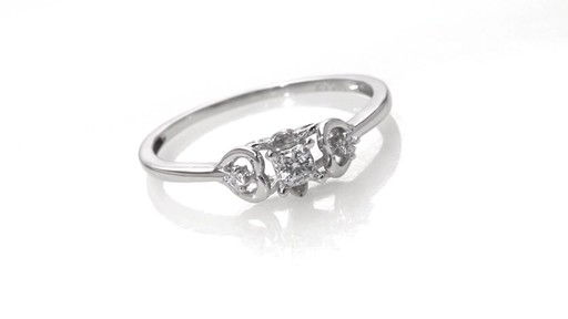 Zales Diamond Accent Interlocking Hearts Ring in 10K White Gold sE8aaaX6ku