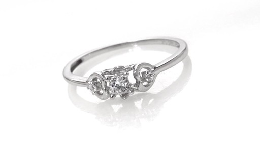 Zales Diamond Accent Interlocking Hearts Ring in 10K White Gold Wvp6mhJ8
