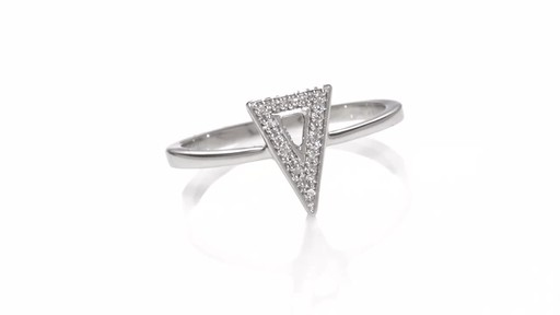 Zales Diamond Accent Triangle Ring In Sterling Silver
