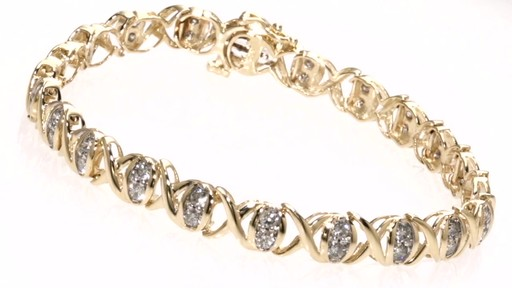 Diamond Quot X Quot And Quot O Quot Bracelet In 10k Gold 2 Ct T W Dia