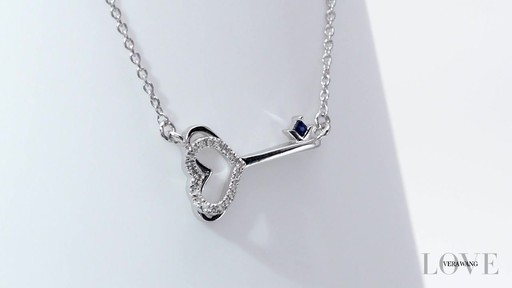 Vera Wang Love Collection Diamond Accent And Blue Sapphire