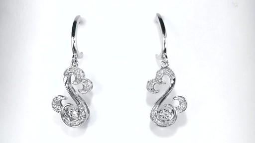 Diamond Drop Earrings In Sterling Silver Open Hearts Rhythm By Jane Seymour 1 10