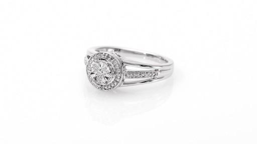 Zales Composite Diamond Accent Frame Split Shank Ring in Sterling Silver I5lP8uA