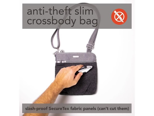 baggallini Anti Theft Slim Crossbody - image 1 from the video