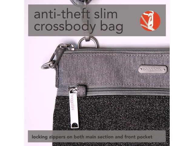 baggallini Anti Theft Slim Crossbody - image 10 from the video