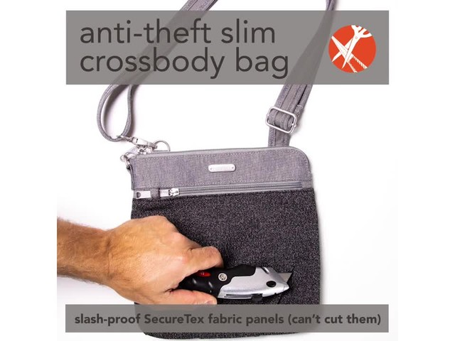 baggallini Anti Theft Slim Crossbody - image 2 from the video