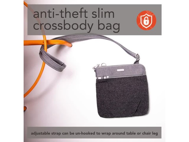 baggallini Anti Theft Slim Crossbody - image 3 from the video
