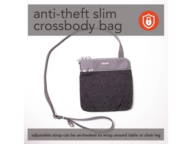 baggallini Anti Theft Slim Crossbody - image 4 from the video