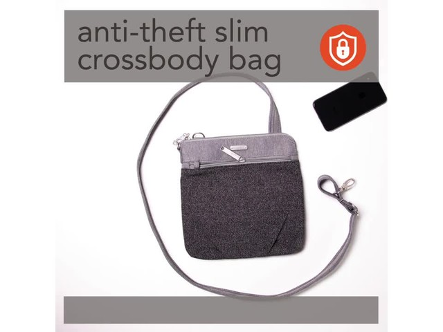 baggallini Anti Theft Slim Crossbody - image 5 from the video