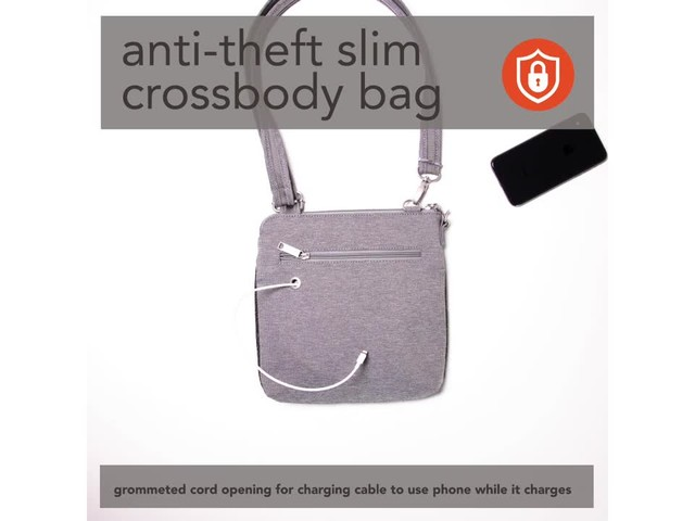 baggallini Anti Theft Slim Crossbody - image 6 from the video