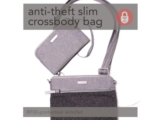 baggallini Anti Theft Slim Crossbody - image 7 from the video